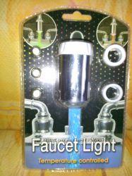 Светодиодная насадка на кран с LED подсветкой