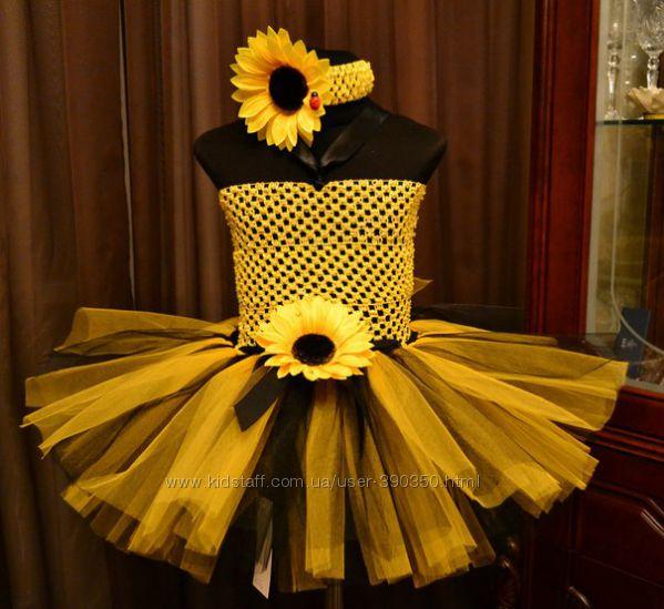 Как сшить подсолнух на платье