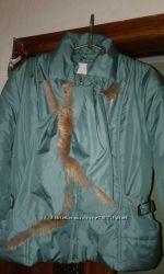 Куртка с шарфом недорого размер 48