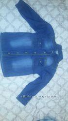 Рубашка джинс 116 5-6лет