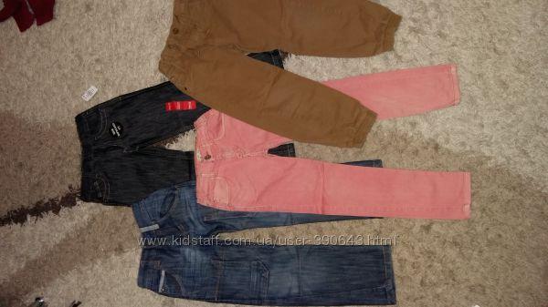 Джинсы, брюки на 5-6 лет, 116 см  Next, Zara, Prinark, Rebel