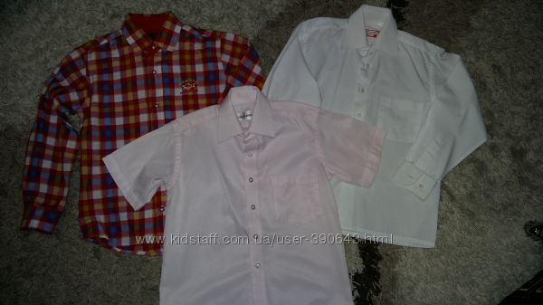 Рубашки на 6-8 лет, рост 116-128