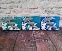 Дельфины - трио Мыло ручной работы