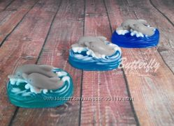 Дельфины - пара Мыло ручной работы