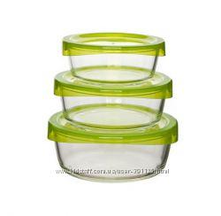 Набор контейнеров стекло Luminarc KEEPN G8640 с круглой крышкой