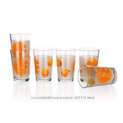 Набор стаканов Banquet Апельсины 230 мл, 6 шт