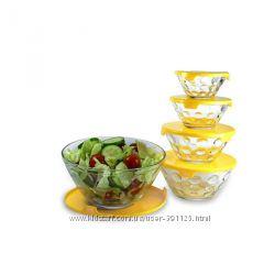 Набор салатников с крышкой Banquet Bubble 5 шт.