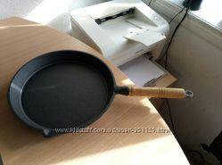 Сковорода чугунная 260 мм дерев ручка откручивается