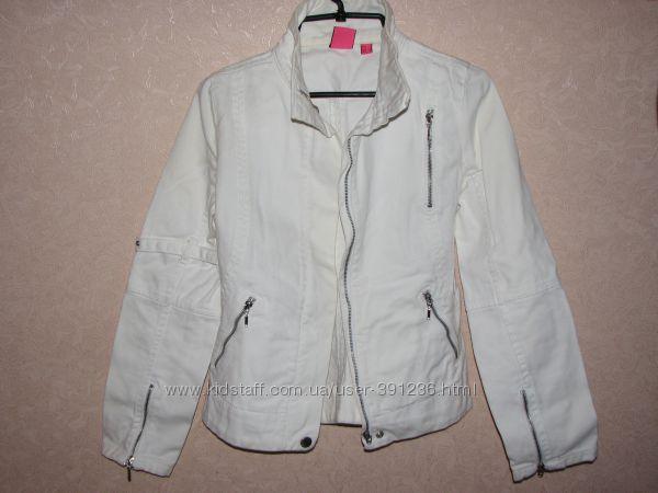 Белая джинсовая куртка Mango S, M