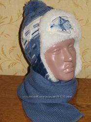 Комплект шапка и шарф для мальчика 4-5 лет