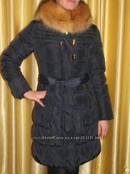 FlashGeo Шикарный теплющий пуховик с мехом лисы S, M, L