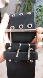 Широкий кожаный ремень 75 мм