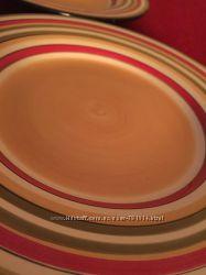 Тарелки большие разноцветные, 2 шт
