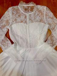 Платье нарядное длинное с кружевом р. XS-S-M в наличии