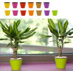 горшок для растений с двойным дном, кашпо для растений