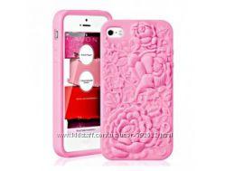 Чехол на телефон бампер силиконовый Avon-Розовая лента