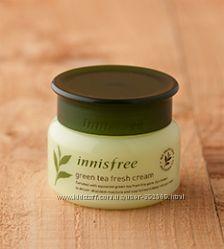 Green Tea Fresh Cream - увлажняющий крем - гель  для жирной кожи Innisfree