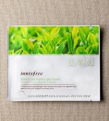 Увлажняющая и питательная гидро-гелевая маска - зеленый чай Innisfree