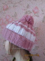 шапка детская вязаная