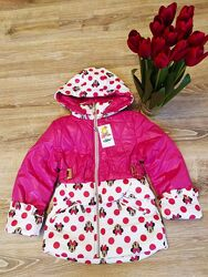 Детская куртка для девочки Демисезонная р. 98- 116 Весна