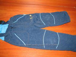 Теплые штаны-комбинезон 98 см