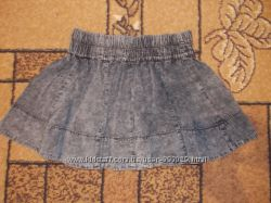 Джинсовая юбка denim, юбка джинс голубая
