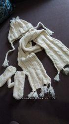 Набор шапка шарф рукавички