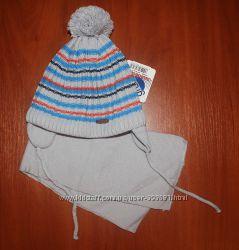 Очаровательные зимние комплекты в полосочку  шапка и шарф