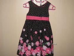 Шикарное яркое платье на 3 года бу