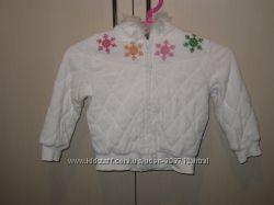 Белоснежная теплая кофта-куртка на 3-4 года