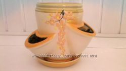 необычный керамический горшок для растений