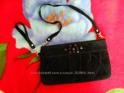 сумочка - клатч бархатный со стразами