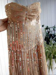 oasis нарядное платье на выпускной корпоратив р. 38 UK10