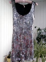 Выпускное зеркальное платье нарядное клубное