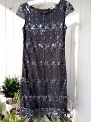 Выпускное нарядное вечернее платье на корпоратив вышитое пайетками