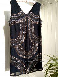 Нарядное выпускное шикарное вечернее платье next бисер пайетки