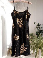 Выпускное вышитое платье шикарное бисер вышивка
