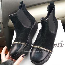 Оригинальные ботинки замшевые в стиле Crocs р. 36