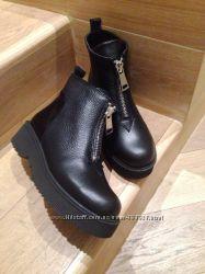 Стильные зимние ботинки кожа реплика Kenzo