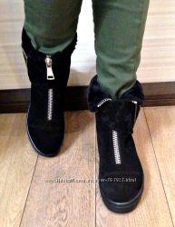 Крутейшие зимние ботинки трансформеры кожа замша