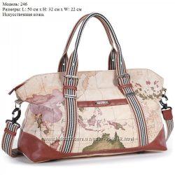 Дорожная сумка-саквояж ТМ Dolly, искусственная кожа