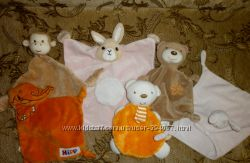 Игрушки-платочки для сна, грызунки. , Chicco и др.