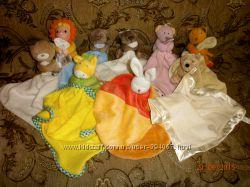 Игрушки-платочки, для сна, кукольного театра
