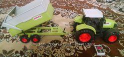 Трактор с прицепом Dickie toys