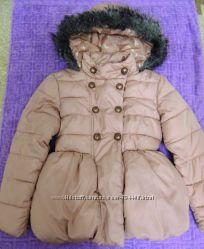 Стильная демисезонная куртка NEXT на 7-8 лет рост 128 цвет пудра