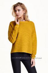 Горчичный оверсайз свитер H&M L