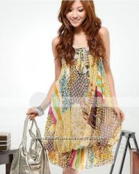 Летнее пляжное платье на ОГ 85-89 см.