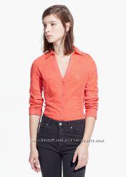 Рубашка кораллового цвета s на ог 84-86 см, mango