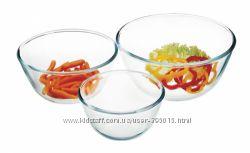 Набор салатников ударопрочное и жаростойкое стекло SIMAX 3 предмета