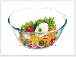 Салатник стеклянный прочный и жаростойкий Simax 3, 5 л Color